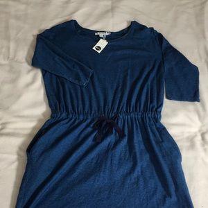 Boden Indigo Jersey Dress sz 10